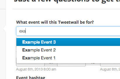 Example of the Eventbrite Integration
